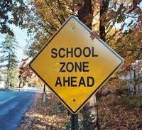 school zone ahead